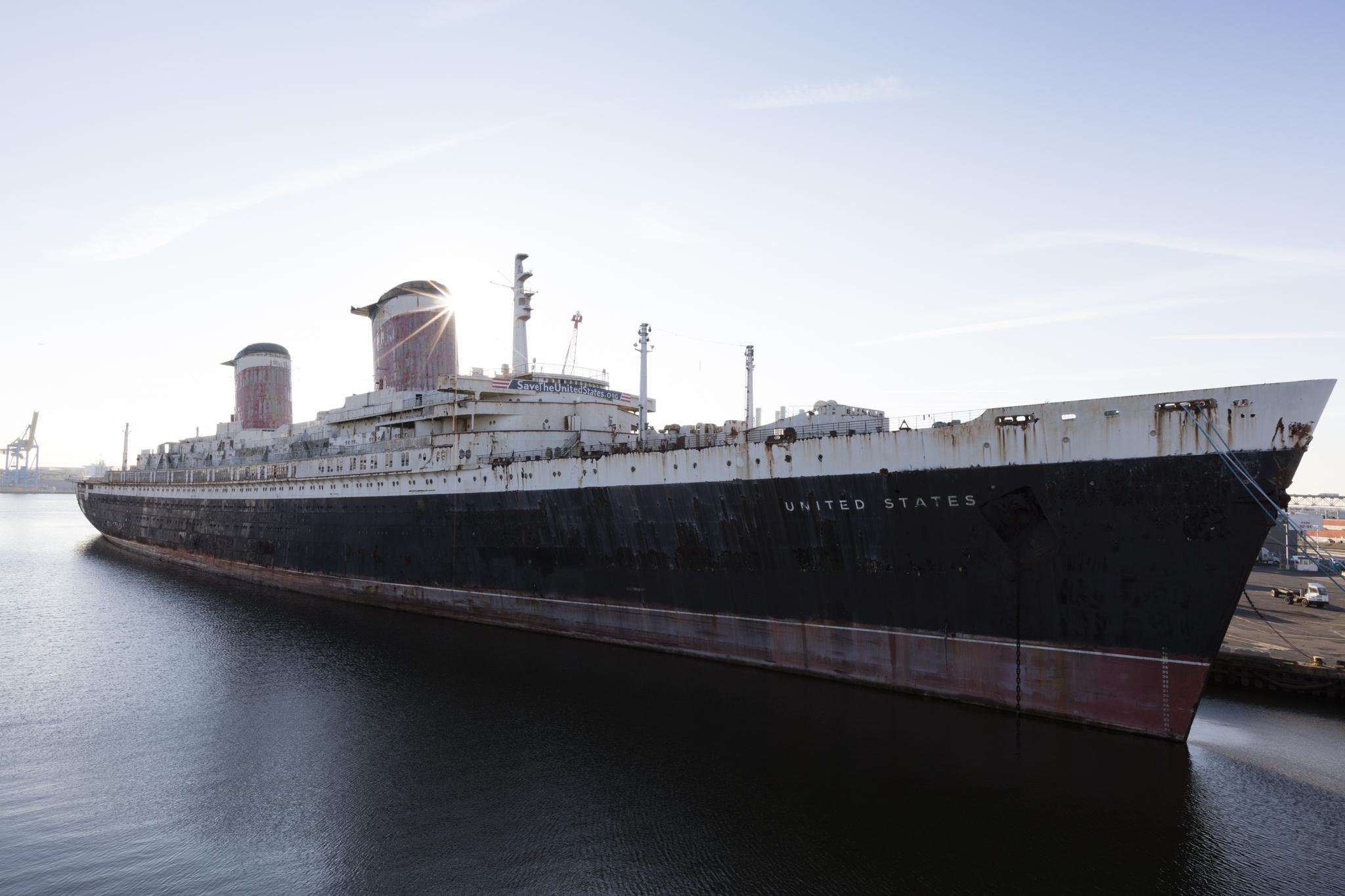 sunrise image of the SS United States