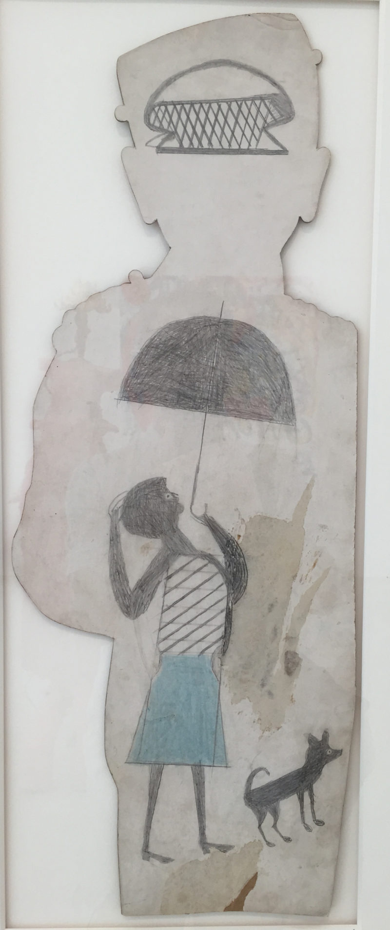 Bill Traylor Untitled Woman with Umbrella